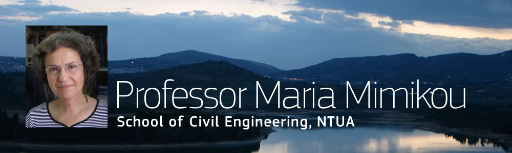 Professor Maria Mimikou, School of Civil Engineering, NTUA